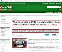 "Bruno Braga: CNBB, ""oficialmente"" no governo comuno-petista?"
