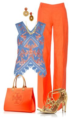 Sin título #1431 by marisol-menahem on Polyvore featuring мода, Tory Burch and Altuzarra