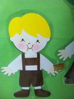 Willy Wonka Cricut Everyday Paper Dolls - Augustus Gloop