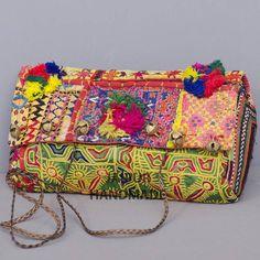 Banjara Clutch bag Bohemian Vintage Clutch by JAIPURHANDMADE