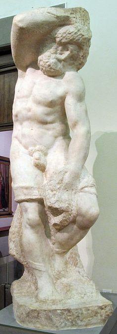 Γενειοφόρος σκλάβος  (1525-30) Πινακοθήκη Ακαδημίας της Φλωρεντίας