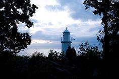 Stenshuvuds fyr | The lighthouse at Stenshuvud, Österlen, Skåne, Sweden Lighthouses, Sweden, Holidays, Holidays Events, Holiday, Lighthouse, Vacation, Annual Leave, Vacations