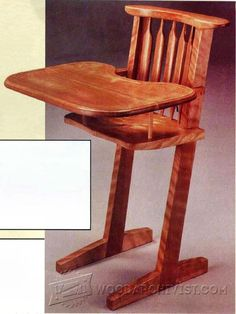 Handcrafted Highchair - Children's Furniture Plans and Projects | WoodArchivist.com