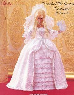 1778 Louis XVI Bride Gown for Barbie Doll Paradise vol. 12 Crochet Pattern