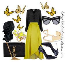 Yellow Hijab Outfit  http://lehijabdedoudou.wordpress.com