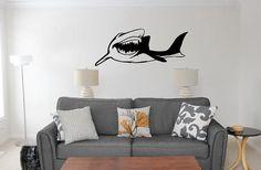 Shark Wall Decal!  Chomp Chomp!!  Shark Week Wall Art #shark #sharkweek #ocean #walldecal