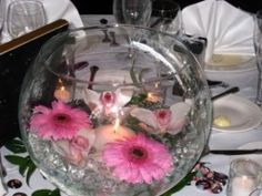 fish bowl centerpiece