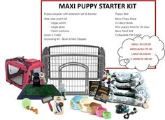 Maxi Puppy Starter Kit - FREE SHIPPING, R4 195.00  #shopplaypens #puppy #puppies #newpuppy #puppytraining #petbed #ecofriendlybowls #rawfoodforpuppies #becobowls #playpen #petplaypens #superdeals #2016deals #save #freedelivery #freeshipping #newfluffybaby #furbaby #furbabies #ilovemydog #ilovemynewpuppy #puppylove Puppy Playpen, Puppy Beds, Raw Food For Puppies, Puppy Starter Kit, Puppy Food, Grooming Kit, Pet Carriers, New Puppy, Pet Products