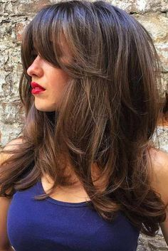 30 Long Haircuts & Hairstyles For Women To Look Gorgeous - Hair Styles 2019 Haircuts For Long Hair, Hairstyles With Bangs, Cool Hairstyles, Wedding Hairstyles, Layered Hairstyles, Long Hairstyles With Layers, Formal Hairstyles, Modern Haircuts, Haircut Long Hair