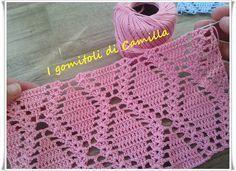 delikli-ornekli-sari-tig-modeli Crochet Baby Boots, Baby Afghan Crochet, Granny Square Crochet Pattern, Crochet Diagram, Crochet Chart, Crochet Motif, Crochet Clothes, Knit Crochet, Crochet Amigurumi Free Patterns