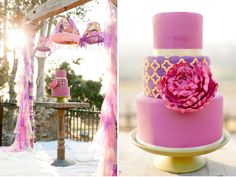 Another one of this cake display, but with a close up of the cake!! Love how bold this is, with a touch of pattern!!