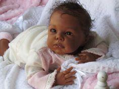 Reborn Baby Girl Romie Styrdom Lila Ethnic AA African American Indian