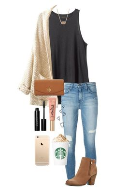 """cutie pie"" by whalesandprints ❤️ liked on Polyvore featuring RVCA, Current/Elliott, Bobbi Brown Cosmetics, Too Faced Cosmetics, Kendra Scott, Tory Burch and ALDO"