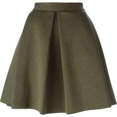 P.A.R.O.S.H. Emil Skirt ($256) ❤ liked on Polyvore featuring skirts, bottoms, green and green skirt