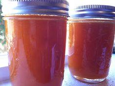 canning homemade honey peach butter