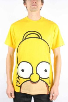 The Simpsons - Homer Huge Face Mens T-shirt in Yellow for only $16.45 You save: $33.54 (67%)