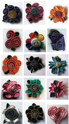zipper flower tutorials