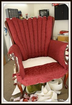Recovering Channel Back Chairs #furniture #finishes #upholstery
