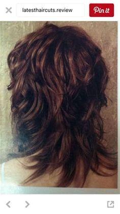 Image result for Medium Shag Haircut Back View