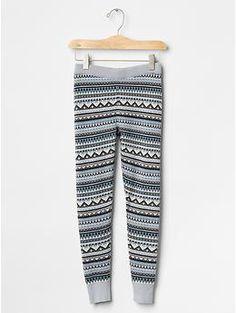 Fair isle sweater leggings   Gap