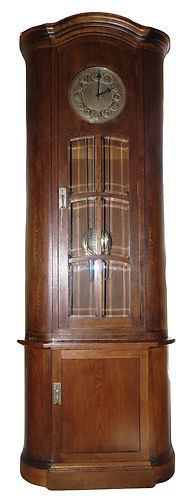 "Antique Arts Crafts Deco German Grandfather Clock Signed Ludwig Fritz 35"" x 92"" 
