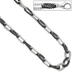Dreambase Damen-Halskette ca. 46 cm lang Silber Schwarz 8 mm Karabinerverschluss Dreambase http://www.amazon.de/dp/B0147RWOJ6/?m=A37R2BYHN7XPNV