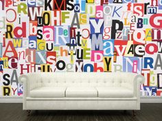Eazywallz  - Letters Collage Wall Mural, $116.38 (http://www.eazywallz.com/products/Letters-Collage.html)