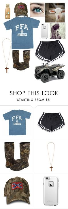 """""""Mornin' Feed """" by cassidymiller-1 ❤ liked on Polyvore featuring NIKE, Bogs, Forever 21 and LifeProof"""