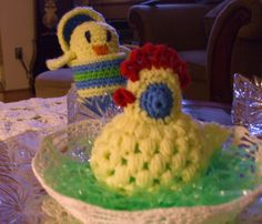 I confirmed this site is correct on 5th March 2015. Suzie Crocheted Chick in egg and chicken egg cover