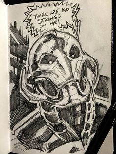 Ultron sketch  #ultron #avengers #art #shevibe   shevibe.com