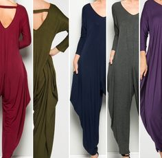 Goddess Collection Jersey Knit Jumpsuit. Cascading profile. Side pockets. V-Neckline.Long sleeves. Obsidian Black.Machine Washable. Tumble Dry Low or Lay Flat to Dry. Available in sizes SML.    Note: The Goddess Collection items typically fit a range of sizes when fabric content is 95% Rayon or Polyester and 5% Spandex.    Small typicallyfits 4-6-8based on body type and proportions of the garment.    Medium typically fits 8-10-12based on body type and proportions of the garment.…