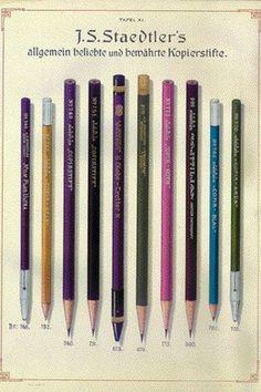 Collection of vintage Staedtler copying pencils.