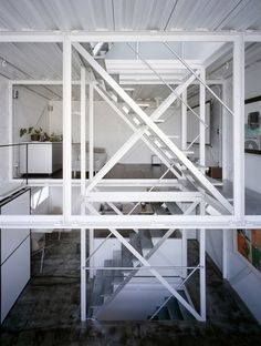 This stunning Tokyo home and architectural design studio is a creation by Keiji Ashizawa. As well as maximizing on space, this open-planned steel framed construction is completely earthquake-proof.