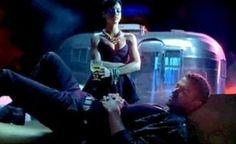 Rihanna and Justin Timberlake sharing the screen with an Airstream caravan