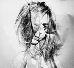 Folded Distortion by Fiona Taylor Distortion Photography, Black And White People, Ugly To Pretty, Art Folder, A Level Art, Portrait Art, Portraits, Illustration, Glitch Art