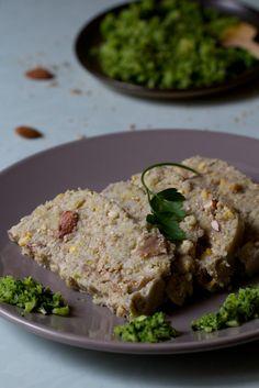Terrine (flocons de sarrasin et de pois cassés, farine de pois chiche, champignons, oléagineux, ...)