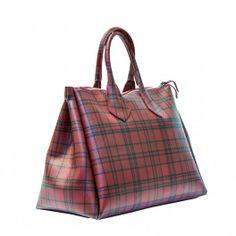 GIANNI CHIARINI GUM BAG - Large Gianni Chiarini GUM bag, tartan theme, top closure zip, Summer 2014 Collection, PVC. Made in Italy #giannichiarini #handbag #madeinitalybag #madeinitaly