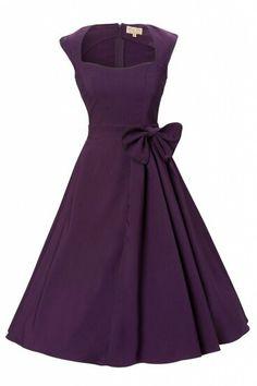 Vestido Vintage Roxo.Precioso!!