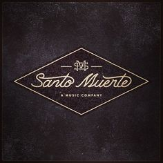 Santo Muerte A Music Company script type graphic design diamond black cream Logo Design, Graphic Design Typography, Identity Design, Lettering Design, Graphic Design Illustration, E Design, Hand Lettering, Brand Identity, Badges