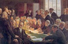 Udvalget for den franske Kunstudstilling i København 1888. Peder Severin Kroyer Committee for the French Art Exhibition in Copenhagen.