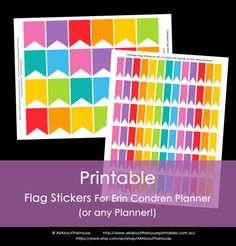 Printable Calendar / Planner Stickers Flags for Erin Condren, Plum Paper (or any other planner) Rainbow Grey Full Box Small Instant Download https://www.etsy.com/au/listing/180046288/printable-calendar-planner-stickers?ref=shop_home_active_20