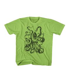 Key Lime Octopus Tee - Toddler & Boys