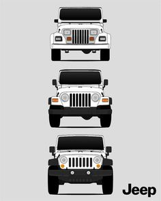 Jeep Wrangler Poster Print Wall Art of the History and Evolution of the Wrangler Generations (Car Models: YJ, tj, JK, JL) White Jeep Wrangler, Wrangler Rubicon, Jeep Wrangler Unlimited, Jeep Jk, Jeep Truck, Jeep Wallpaper, Jeep Accessories, Jeep Cars, Jeep Life