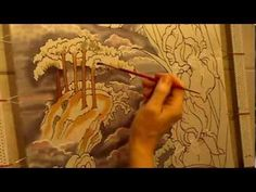 Irises on silk. Silk art by Svetlana Salitan. Seidenmalerei  Pintura en ...