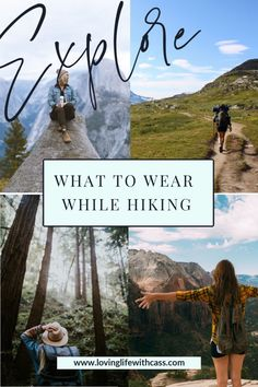 Check out this adventure travel blog to learn what to wear hiking. This blog will show you a complete hiking outfit including hiking clothes, hiking boots, and hiking accessories. These hiking tips will help you be prepared for the elements and enjoy your time on the trails. #hiking #whattowearhiking #hike #hikingadventures Travel Guides, Travel Tips, Travel Destinations, Hiking Tips, Hiking Gear, Fashion Hacks, Fashion Bloggers, Women's Fashion, Winter Travel Outfit