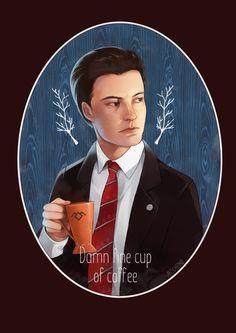"""Agent Cooper likes his coffee black…"" Helena Mischenko © 2017"