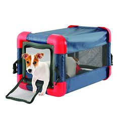 Tristar Pet Foldable Dog Crate Fold Portable Cage Dog Kennel Soft Travel Crate Washable Cat Play House Cube Lightweight Indoor/Outdoor Pop-up Pet Shelter * Check out the image by visiting the link. (This is an affiliate link) Soft Sided Dog Crate, Soft Dog Crates, Pet Travel Carrier, Cat Carrier, Foldable Dog Crate, Collapsible Dog Crate, Portable Dog Kennels, Cat Playhouse, Puppy Crate