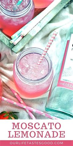 Moscato Pink Lemonade This sweet and tangy lemonade is so refreshing and delish, it is the perfect beverage for a picnic, BBQ, or just a relaxing afternoon. Summer Drink Recipes, Drinks Alcohol Recipes, Non Alcoholic Drinks, Summer Drinks, Fun Drinks, Healthy Drinks, Beverages, Malibu Rum, Malibu Drinks