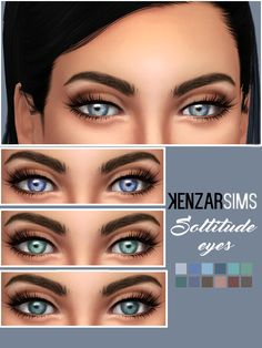 Kenzar Soltitude Eyes* You can find them in -FacePaint - *Comes in 12 colors. *Tag me if you use them I hope you like it ! ^-^ Download Eyes(Mediafire) Download Eyes(Simfileshare) Find my other makeup...