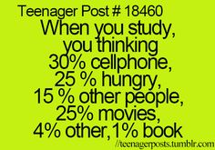 Actually 75% food 10% phone 5% other people 0 book